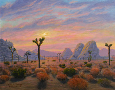 Hiking Painting - Where The Sun Sets by Mark Junge
