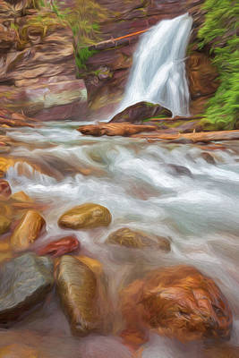 Where The Water Goes II Art Print by Jon Glaser