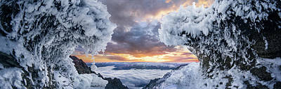 Mountain Sunset Wall Art - Photograph - Where The Waves Collide by Adrian Borda