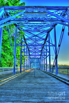 Photograph - Where Trains Once Were Walnut Street Pedestrian Bridge Chattanooga Art by Reid Callaway