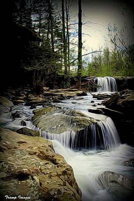 Digital Art - Where Waters Fall by Wesley Nesbitt