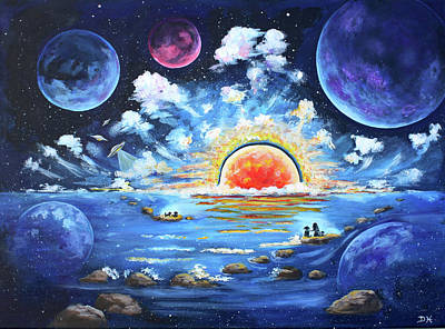 Painting - Where Worlds Collide by Diana Haronis