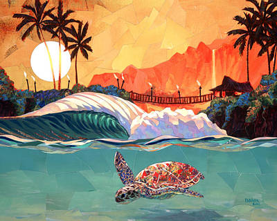 Turtle Painting - Where You Want To Be by Patrick Parker