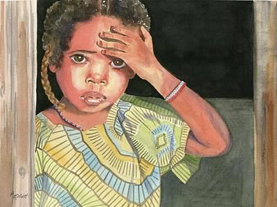 Distraught Painting - Where's Mama by Marsha Elliott