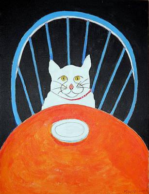 Empty Chairs Painting - Where's My Dinner? by Robert Anthony Montesino
