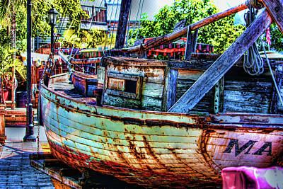 Mallory Square Key West Wall Art - Photograph - Where's The Water by Joetta West