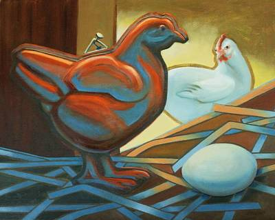 Painting - Which Came First? by Peggy Wrobleski