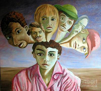 Which Of My Sub Personalities Is The Real Me Art Print by Tanni Koens