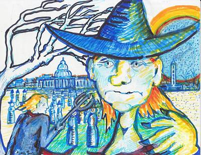Washington Monument Painting - Which Witch ? Hunt #2 by Susan Brown    Slizys art signature name
