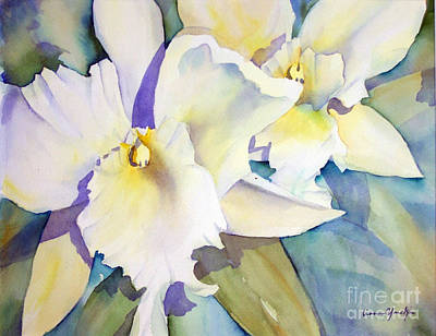 Painting - Whie Orchids by Liana Yarckin