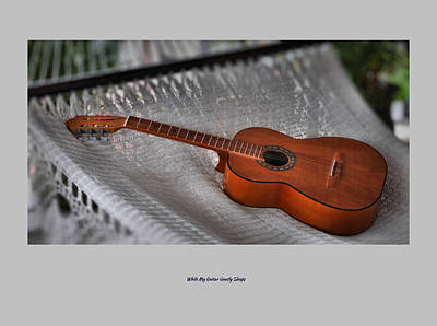 While My Guitar Gently Sleeps Art Print by Jim Walls PhotoArtist