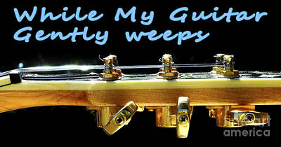 Bounce Digital Art - While My Guitar Gently Weeps by Ilan Rosen
