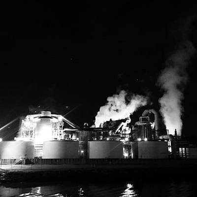 Photograph - Industry At Night by Adam Graser