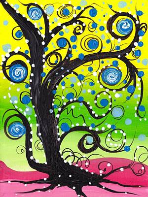 Whims Tree Art Print by  Abril Andrade Griffith