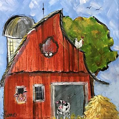 Painting - Whimscial Barn by Terri Einer