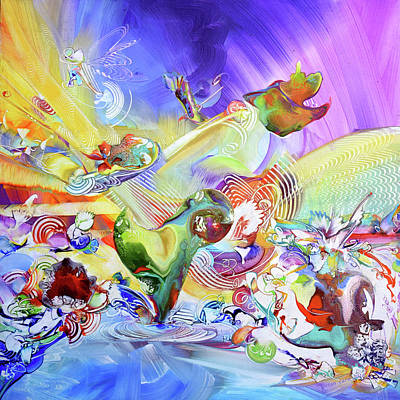 Whimsical Abstraction-joy Original by Susan Card