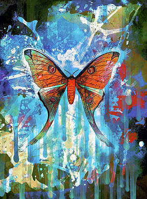 Mixed Media - Whimsical Butterfly Collage by Georgiana Romanovna