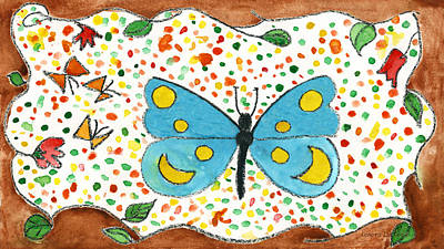 Painting - Whimsical Butterfly For The Young Of Any Age by Lenora  De Lude