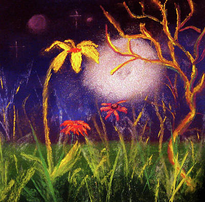 Make Believe Painting - Whimsical Fields by Diana Tripp