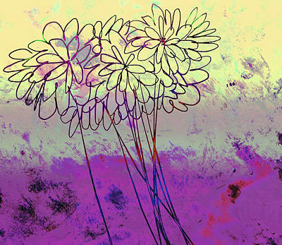 Whimsical Flower Bouquet Art Print by Ann Powell