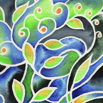 Painting - Whimsical Garden Organic Decor Vii by Irina Sztukowski