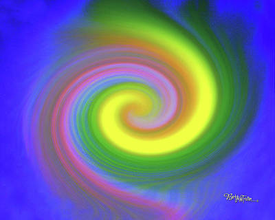 Digital Art - Whimsical Inward Twirls #111 by Barbara Tristan