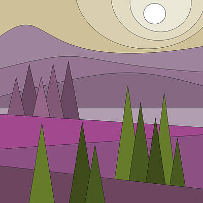 Playful Digital Art - Whimsical Landscape by Val Arie