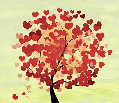 Mixed Media - Whimsical Love by Georgiana Romanovna