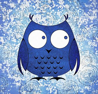 Painting - Whimsical Owl Art by Tina LeCour