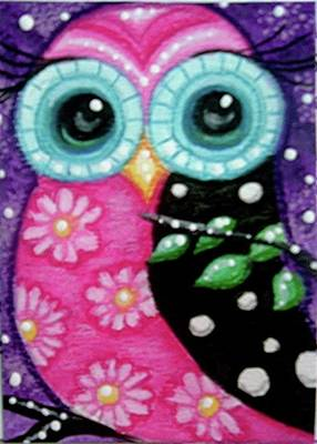 Painting - Whimsical Owl by Monica Resinger