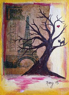 Whimsical Paris Kitty Original