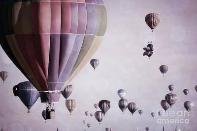 Photograph - Whimsical Purple Sky Balloons by Andrea Hazel Ihlefeld