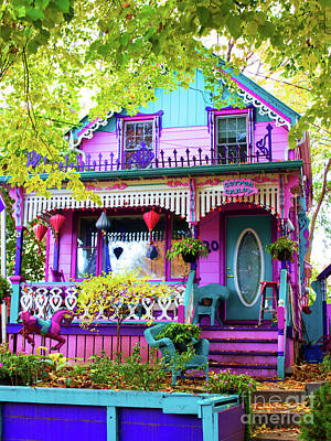 Photograph - Whimsical Cotton Candy House by Barbara McMahon
