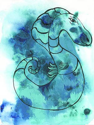Painting - Whimsical Seahorse by Darice Machel McGuire