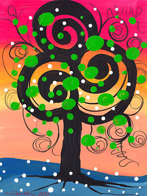 Whimsical Tree 4 Print by  Abril Andrade Griffith