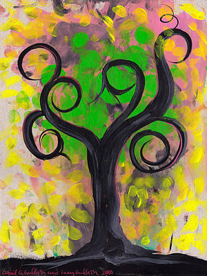 Whimsical Tree 5 Art Print by  Abril Andrade Griffith