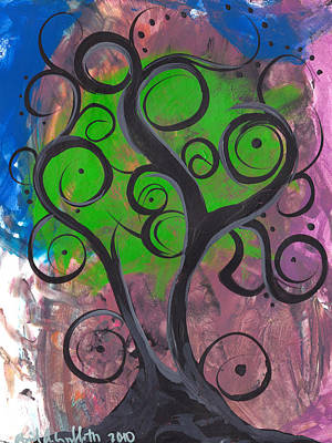 Whimsical Tree 7 Print by  Abril Andrade Griffith