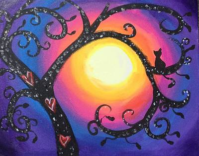 Painting - Whimsical Tree At Sunset by Diana Riukas