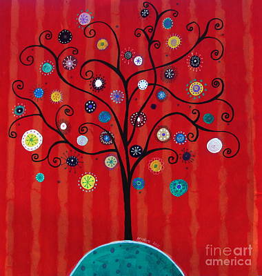 Painting - Whimsical Tree Of Hope by Pristine Cartera Turkus
