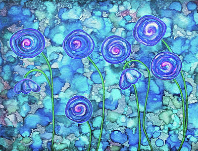 Painting - Whimsical Wildflowers by Jennifer Allison