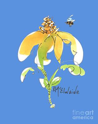 Painting - Whimsy And Bee Yl025 Watercolor Painting by Kathleen McElwaine