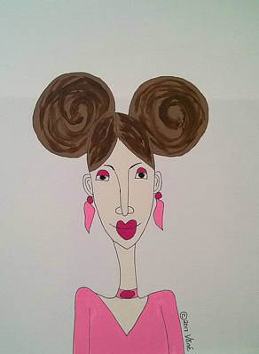 Drawing - Whimsy Athaliah by Yvonne Carson