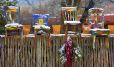 Whimsy In Taos Art Print by Renee Skiba
