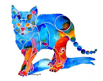 Painting - Whimzical Katie Kitten by Jo Lynch
