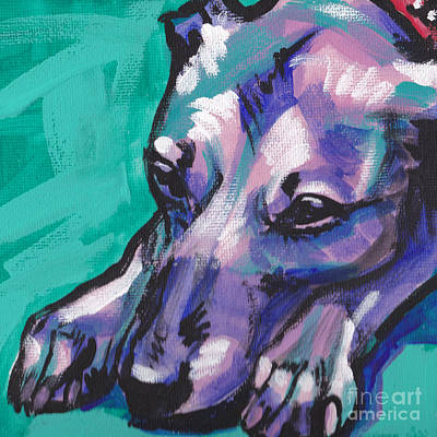 Whippet Painting - Whip It by Lea S