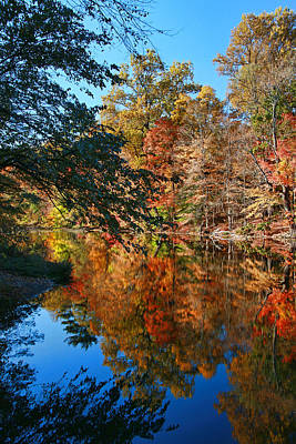 Photograph - Whippany River Reflection 2 by Allen Beatty
