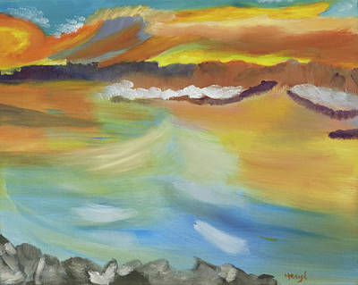 Painting - Whipped Waters Of Iceland by Meryl Goudey