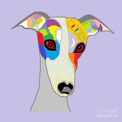 Hound Painting - Whippet by Eloise Schneider
