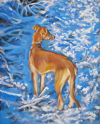 Painting - Whippet by Lee Ann Shepard