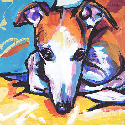 Whippet Painting - Whippet Love by Lea S